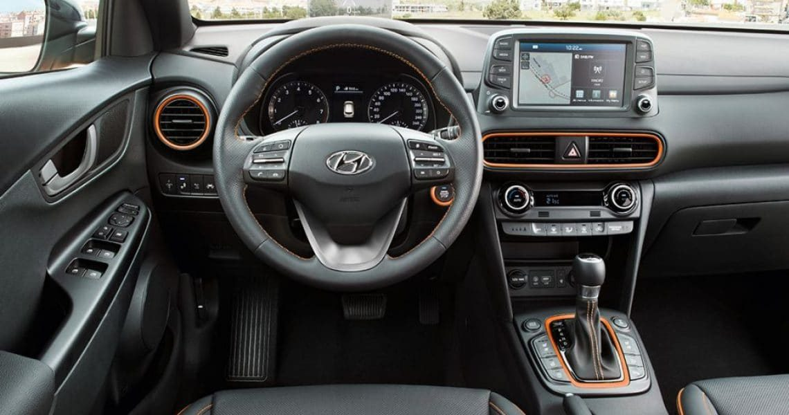 Hyundai Kona 2020 unutrašnjost