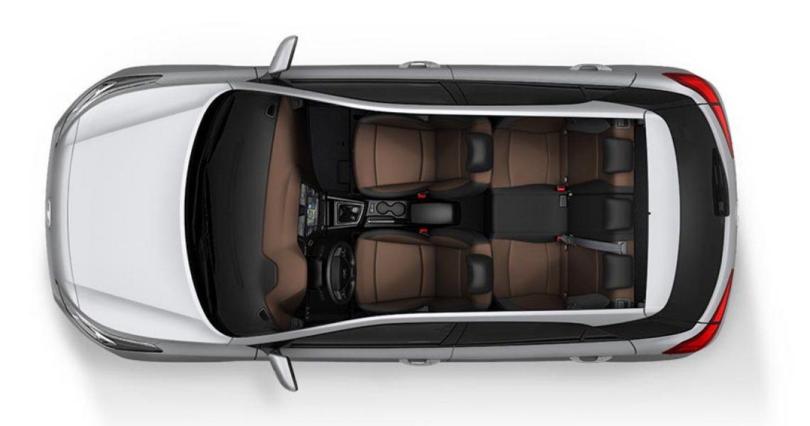 Hyundai i10 - enterijer iz ptičije perspektive
