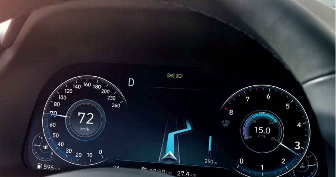 Elementi aktivne bezbednosti prikazuju se na instrument tabli u realnom vremenu
