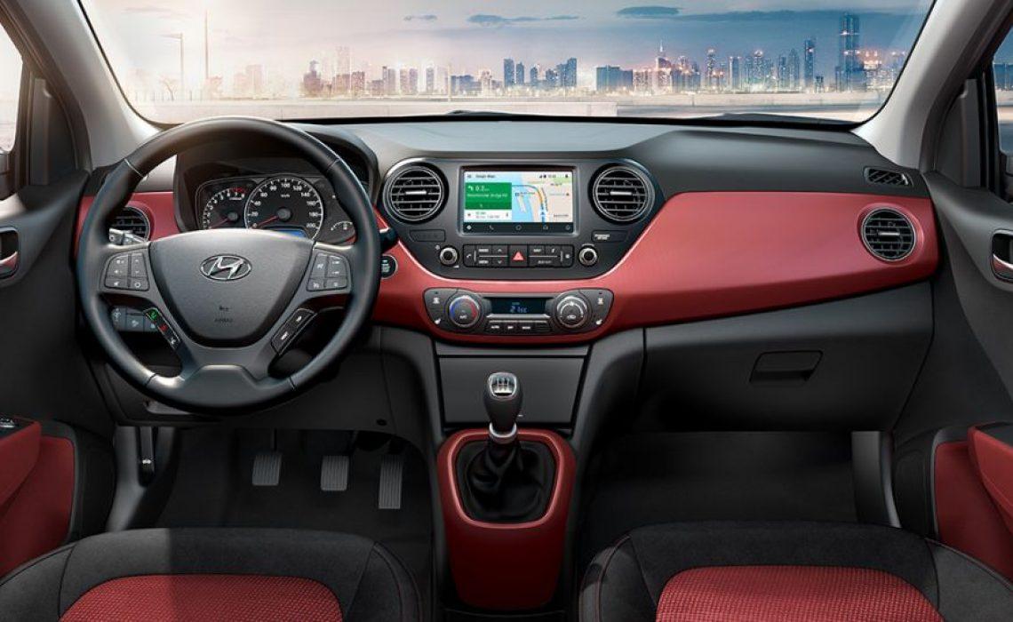 Hyundai i10 - dizajn enterijera