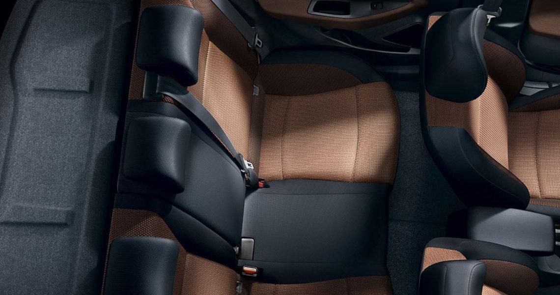Hyundai i20 - zadnja sedišta