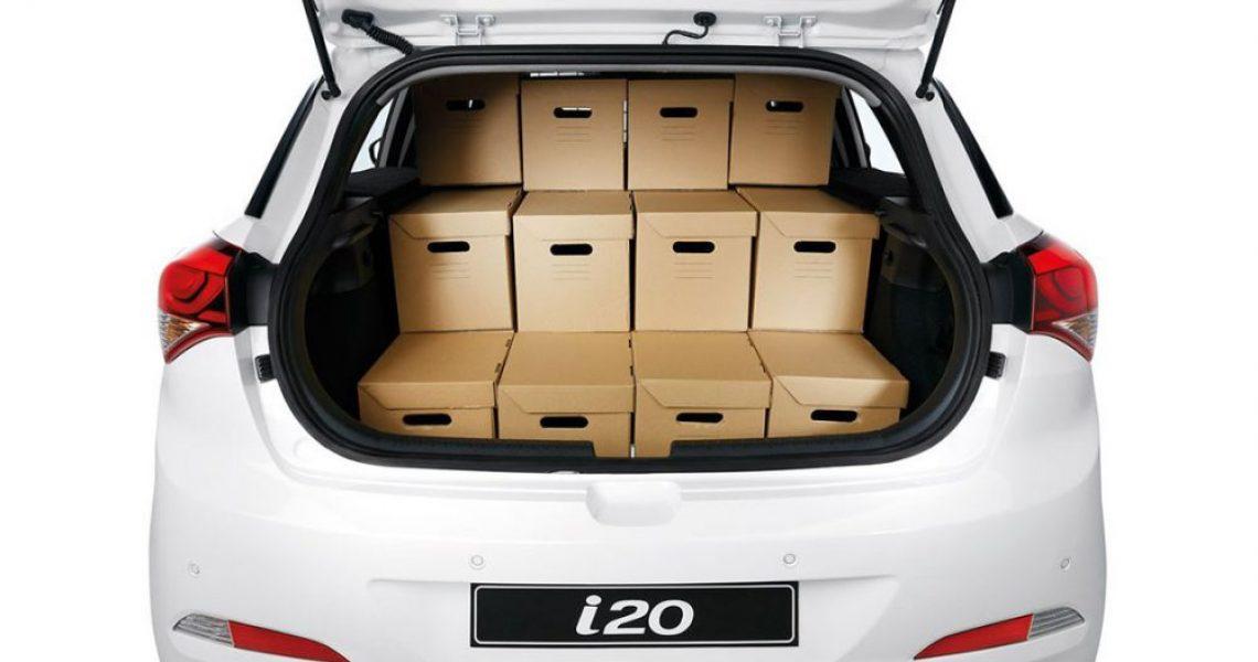 Hyundai i20 Van - pakovanje kabastog prtljaga 1