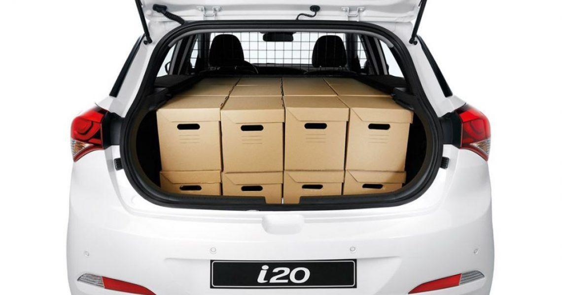 Hyundai i20 Van - pakovanje kabastog prtljaga 2