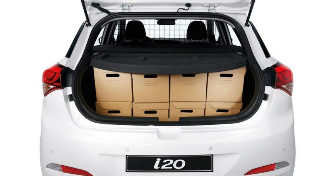 Hyundai i20 Van - pakovanje kabastog prtljaga 3