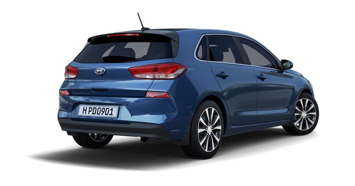 Hyundai i30 - zadnji izgled sa bočne strane