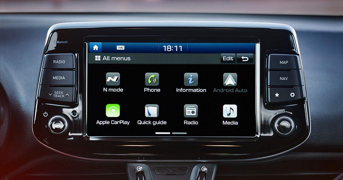 Hyundai i30 N - glavni meni interaktivnog ekrana