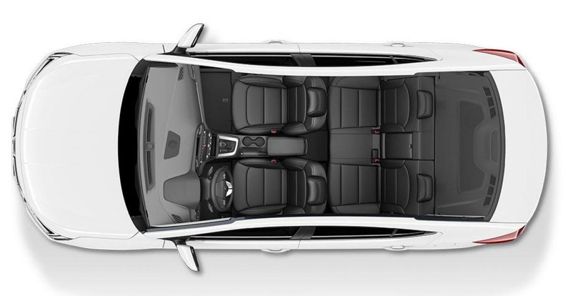 Hyundai Elantra - enterijer iz ptičije perspektive