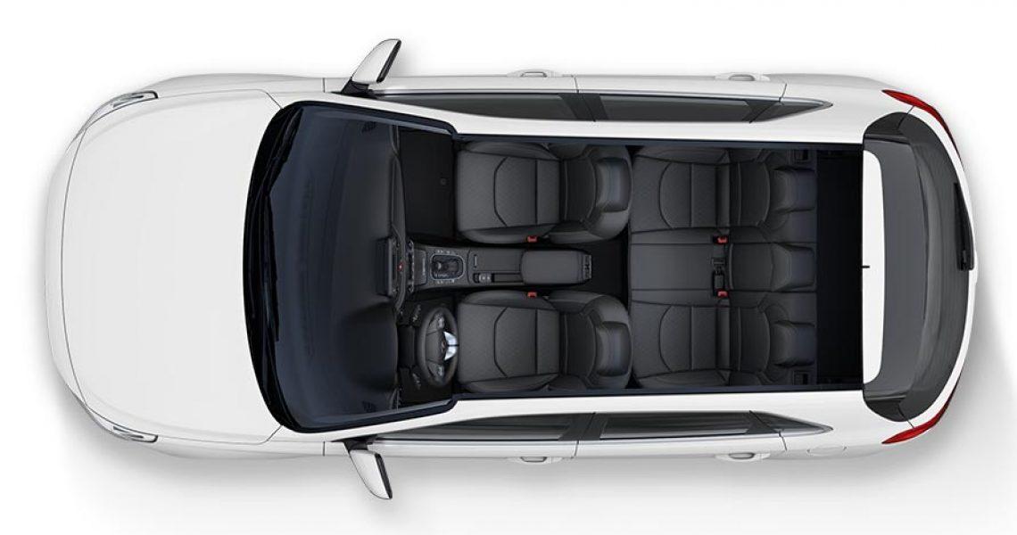 Hyundai i30 - enterijer iz ptičije perspektive
