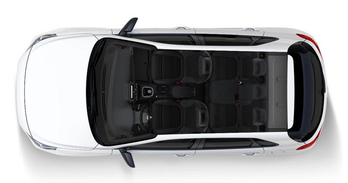 Hyundai i30 N - enterijer iz ptičije perspektive